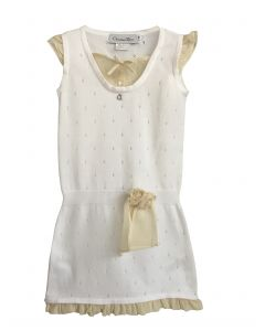 White S/S knit dress
